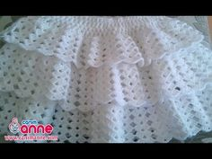 Knitting of Baby Skirt Top Layers @ Canım Anne Crochet Toddler, Crochet Baby Shoes, Crochet Baby Clothes, Crochet For Kids, Knit Crochet, Crochet Winter Dresses, Crochet Skirts, Knitting Videos, Crochet Videos