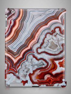 White Red Agate iPad Air 2 Case Marble iPad Mini 4 by TeideShop