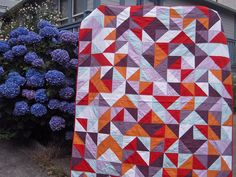 ::Quilts:: « SEW KATIE DID.  Love plain dyed fabrics.