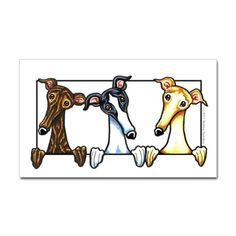 Greyhound Lover Decal on CafePress.com