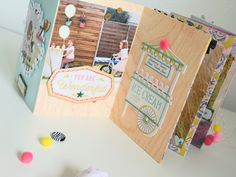 Mini im Beutel - Maggie Holmes/Crate Paper Carousel - Ulrike Dold You Are Wonderful, Crate Paper, Scrapbook Paper Crafts, Mini Books, Junk Journal, Mini Albums, Crates, Baby Books, Carousel
