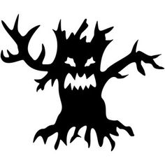 Silhouette Design Store: tree halloween