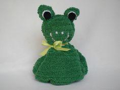 Gastgeschenke - Frosch aus einem Waschlappen AprilGarten  - ein Designerstück von Pfiffiges bei DaWanda