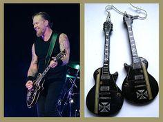 Guitar Earrings  james hetfield metallica inspired by nikajon