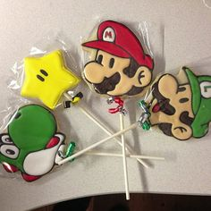 Check out these awesome Mario Bros cookies by Etsy user Amigalletas ❤ by Thevideogamegirl, via Flickr