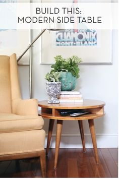 How To: Build A Midcentury Modern Side Table
