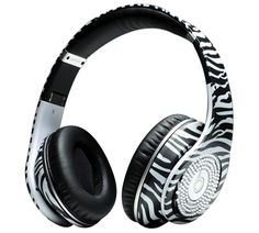www.beatsbydre-headphonesshop.com  Monster Headphones Beats By Dr Dre Studio High Performance Zebra-Stripe with Diamond.png
