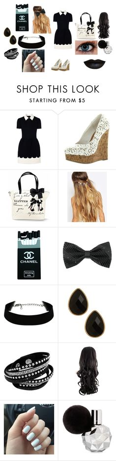 """""""Outfit Idea #21"""" by alliephil ❤ liked on Polyvore featuring RED Valentino, Johnny Loves Rosie and Natasha Accessories"""
