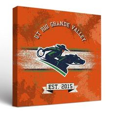Victory Tailgate NCAA Banner Vintage Design Framed Graphic Art on Wrapped Canvas