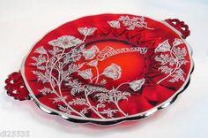 Viking Glass Red AnniversaryPlate