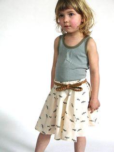 Love this skirt for a little girl. # printed summer skirt