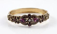 Ornate Bracelet Purple Rhinestone Vintage Avon by VintageGemz