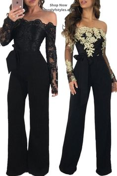 This versatile jumpsuit is suitable for many formal occasion. Elegant wide leg jumpsuit for cocktail fashion outfit Occasion classy Dinner Outfit Classy, Dinner Outfits, Fall Outfits, Formal Jumpsuit, Mesh Jumpsuit, Jumpsuits For Women Formal, Off Shoulder Jumpsuit, Cocktail Outfit, Fashion Outfits