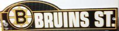 Boston Bruins NHL Street Sign