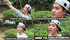 Guyz, Jackson just wants to take a selfie in peace, without the judgment ;)