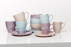 Set cani personalizate Words, 350 ml, 3 piese Mugs, My Love, Words, Tableware, Kitchen Decorations, Coffeecup, Medium, Breakfast Set, Dinner Sets