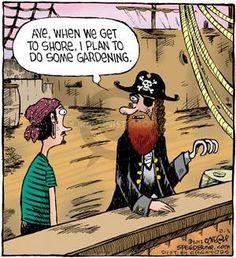 Arrrrr, a little bit of garden humor. #lawn #grass #garden #gardener #gardening #plant #yard #diy #joke #humor #weeds (via store.rainbird.com)