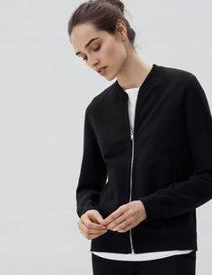 Our utilitarian interpretation of the classic zip-up sweatshirt, guarantee to become your favorite layering piece for those casual days. This refined, yet minimalist bomber jacket is a new contemporary classic. Constructed from an exceptionally soft, yet structured, loopback french terry fabric using our premium Peruvian Pima cotton and Swiss made riri zipper. We recommend that …