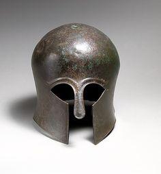 Bronze helmet of the Corinthian type