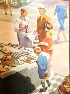 Shopping With Mother Book Illustrations, Children's Book Illustration, Vintage Soul, Vintage Art, Early Childhood, Childhood Memories, Ladybird Ladybird, American Life, Mother And Child