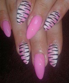 almond nail art design - Google Search