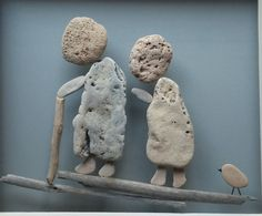 Our way - …I so miss my grandparents, so miss seeing again the love between them.  Natural stones collected from the sea shore at the holy land, Israel. The stones are attached to a renewed old window. O n e o f a k i n d!!!  A Unique 3D Wall Art, made with lots of love. This artwork could be THE WOW art piece in your home decor!!!  A great gift for family for any occasion. Housewarming gift, gift for a birthday, anniversary, new home or a Christmas.  Ready to hang.  Size: 23.6X20.85 inches…