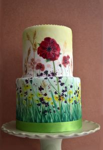 Hand painted Meadow cake
