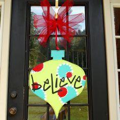 Christmas Door Hanger Large Ornament Decor by LooLeighsCharm, $42.00