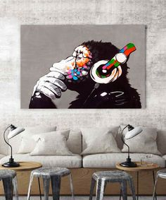 VANCOL artwork Store - Amazing prodcuts with exclusive discounts on AliExpress Art Mural Photo, Banksy Posters, Banksy Canvas, Street Art, Canvas Wall Art, Canvas Prints, Composition Art, Cartoon Wall, Music Painting