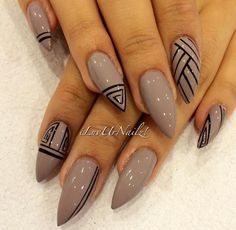 Somewhat Tribal Nails
