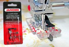 Accessories We Love: Janome Clear View Quilting Foot and Guide Set | Sew4Home