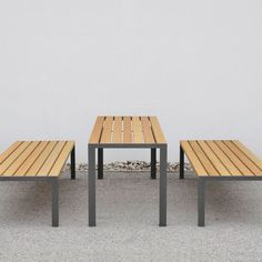 LA STRADA - Designer Dining tables from miramondo ✓ all information ✓ high-resolution images ✓ CADs ✓ catalogues ✓ contact information ✓ find. Garden Furniture Uk, Outdoor Furniture Sets, Outdoor Decor, Dining Table, Table Bench, Simple, Wood, Inspiration, Design