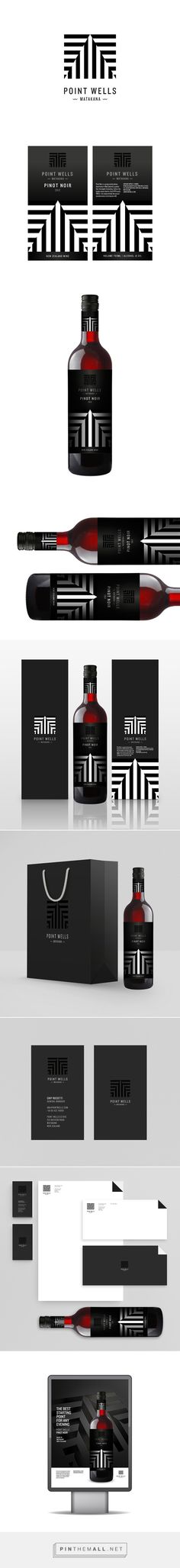Point Wells Winery Branding and Packaging by Alex Townsend Wine Packaging, Packaging Design, Branding Design, Wine Label Design, Bottle Design, Branding Agency, Business Branding, Tea Design, Web Design Agency