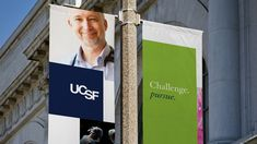 UCSF Brand Application - Pole Banners