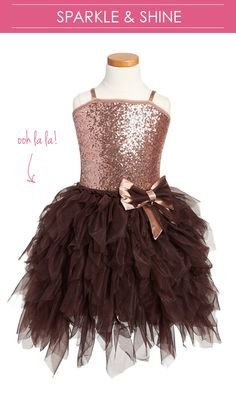 love this pretty little dress with oodles of tulle & tons of sparkle.