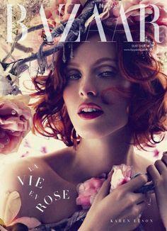 curly hair inspiraton: Karen Elson