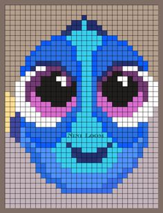 Baby Dory Perler Bead Pattern