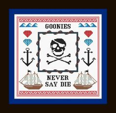 Never Say Die Pattern/PDF  Goonies Cross Stitch by PyroDogPins, £3.00