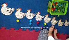 Rincón de una maestra: Las gallinas de los números del 0 al 10