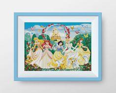 Disney Princesses cross stitch pattern Instant by NataliNeedlework