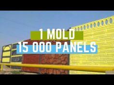 1 Mold 15 000 Panels Precast Concrete Fence Delaem Azhurnyj Betonnyj Zabor Youtube Precast Concrete Concrete Wall Concrete Fence Panels