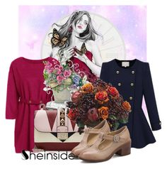 """""""Sheinside IV/7"""" by belle-papillon ❤ liked on Polyvore featuring Valentino and Allstate Floral"""