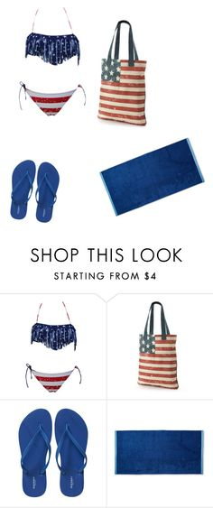 """""""Malia Tate Inspired"""" by badbabyangel on Polyvore featuring SO, Old Navy, beachday, beachwear, patriot and july4"""