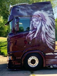 Show Trucks, Big Trucks, Rigs, Cars And Motorcycles, Princess Zelda, Artwork, Anime, Airbrush, Painting