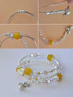 Beaded bracelet, like this style? LC.Pandahall.com will publish the tutorial soon. #pandahall