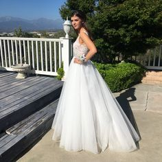 Desiree Brady looked like royalty in this #MacDuggal ballgown style #promdress! Style number 10100. #PromGoals