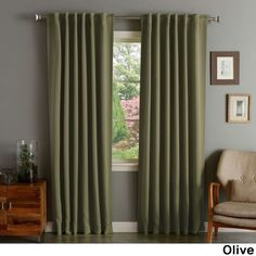 Aurora Home Solid Thermal Insulated 108-inch Blackout Curtain Panel... (€65) ❤ liked on Polyvore featuring home, home decor, window treatments, curtains, rod pocket curtain panels, thermal drapery panels, thermal window curtains, thermal draperies and window curtains