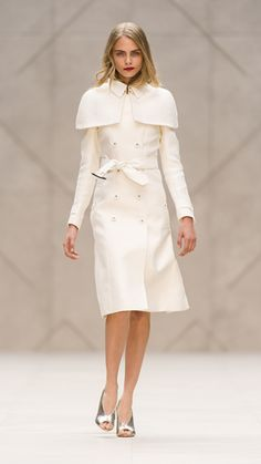 Double Duchess Caped Trench Coat Burberry Prorsum Spring/Summer 2013 Show