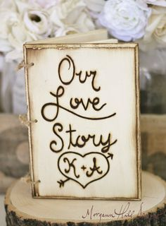 Personalized Rustic Guest Book Engraved Wood (Item Number 140034)