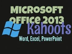 • Kahoot is a game-based classroom response system  •	This resource contains instructions for accessing My Free Public Kahoots about Microsoft office (Word, Excel and PowerPoint)